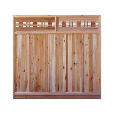 6 Ft H X 6 Ft W Western Red Cedar Horizontal Lattice Top Fence Panel Kit Home Depot Fence With Lattice Top Fence Panels Privacy Fence Panels