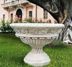 italian urns marble planter pottery
