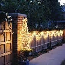 Christmas Lights On Fence Ideas Outdoor Christmas Outdoor Christmas Lights Christmas Light Installation