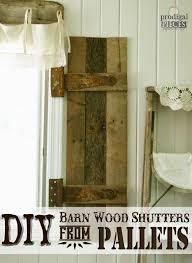 diy barn wood shutters from pallets