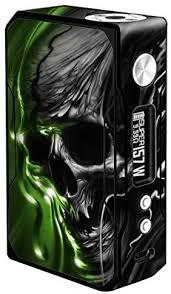 Skin Decal Vinyl Wrap For Voopoo Drag 157w Tc Resin Reg Vape Mod Stickers Skins Cover Dark Skull Skeleton Neon Green In 2020 Vape Vinyl Wrap Vape Mods
