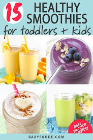 15 smoothies for toddlers kids