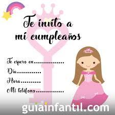 Invitaciones De Cumpleanos Con Una Princesa