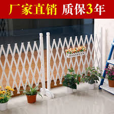 Anticorrosive Wood Fence Fence Dog Indoor Garden Fence Outdoor Retractable Grid Partition Pet Decorative Fence Gate