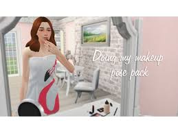doing my makeup pose pack by curious
