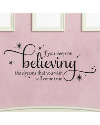 Discover Deals On Keep On Believing Cinderella Disney Princess Wall Quotes Decal Black