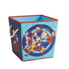 Disney Mickey Mouse Storage Cube With Rope Handles Set Of 2 Walmart Com Walmart Com