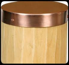 Round Copper Post Cap Seamless Round Copper Top Post Cap Depot