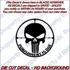 Decal Punisher Sniper 6 X 6 2 Pack Vinyl Window Sticker