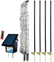 Amazon Com Premier 48 Poultrynet Plus Starter Kit Includes White Poultrynet Plus Net Fence 48 H X 100 L Double Spiked Solar Intellishock 60 Fence Energizer Fibertuff Support Posts