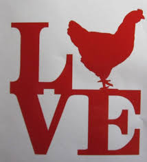 Love Chicken Vinyl Window Decal Sticker Available In 24 Colors Chicken Crafts Farm Animal Coloring Pages Chicken Coop Signs