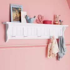 The Land Of Nod Kids Shelves Kids White Wooden Beadboard Peg Shelf In Shelf Wall Storage Kids Shelves Kid Room Decor Shelves