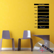Weekly Calendar Chalkboard Wall Decal 1 White Liquid Chalk Cheap Stickers Abstract Discount Wall Stickers Madeco Stickers