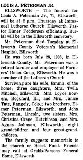 Louis August Peterman Obituary - Newspapers.com
