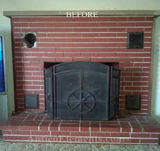 fireplace with faux stone panels