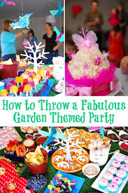 garden themed birthday party