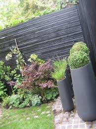 Greenlinesdesign Small Backyard Landscaping Small Garden Design Black Garden Fence