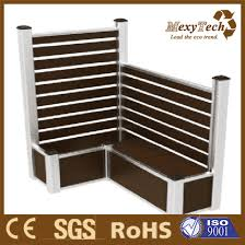 China Wpc Aluminium Wooden Fence Panel Can Sit On The Boxes China Composite Fence And Picket Fence Price