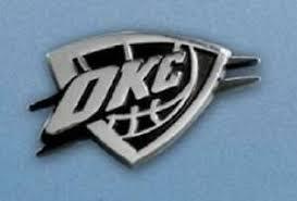 Oklahoma City Thunder Heavy Metal Auto Emblem New Nba Chrome Car Decal Sticker 842989048754 Ebay