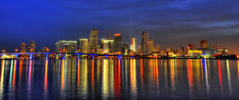 downtown miami skyline at dusk hd