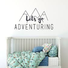 let s go adventuring wall sticker quote quote wall stickers