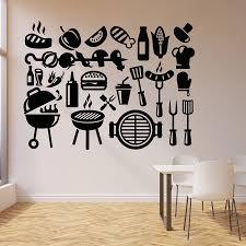 Vinyl Wall Decal Kebab Barbecue Fast Food Tasty Food Restaurant Dining Room Interior Decor Vinyl Window Stickers Art Mural M678 Wall Stickers Aliexpress