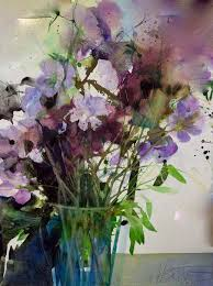 Pin by Ester West on Art-Watercolor | Flower painting, Watercolor flowers,  Painting