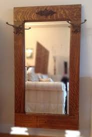 antique oak hall mirror tiger oak
