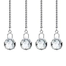 pull chain clear crystal almond prism