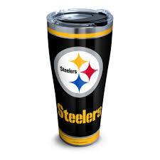 Nfl Pittsburgh Steelers Touchdown 30 Oz Stainless Steel Tumbler With Lid Walmart Com Walmart Com