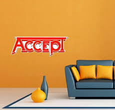 Accept Band Rock Heavy Metal Music Room Wall Decor Sticker Decal 25 X9 For Sale Online