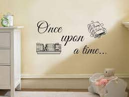 Wall Quote Once Upon A Time Wall Art Sticker Vinyl Decal Modern Transfer Ebay