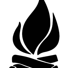 Campfire Camping Vinyl Sticker