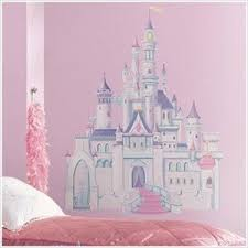 Large Disney Princess Wall Decals Cinderella Giant Castle With Glitter Wall Mural Removab Disney Princess Castle Disney Princess Wall Decals Princess Castle
