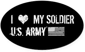 Amazon Com Cafepress U S Army I Love My Soldier Oval Car Magnet Euro Oval Magnetic Bumper Sticker Automotive