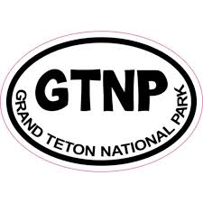 3in X 2in White Oval Grand Teton National Park Sticker Vinyl Car Stickers Walmart Com Walmart Com