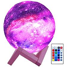 Amazon Com Hyodream 3d Moon Lamp Kids Night Light Galaxy Lamp 16 Colors Led Light With Rechargeable Battery Touch Remote Control As Birthday Gift For Boys Girls Baby Home Kitchen