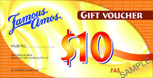 famous amos cash vouchers cash