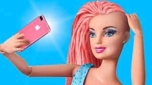 diy barbie doll hair and makeup