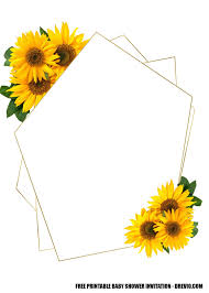 Free Printable Template Oh Baby Sunflower Baby Shower For Girl
