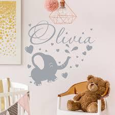 Elephant Wall Decal Girl Name Decal Elephant Nursery Decal Baby Name Decal Baby Girl Room Decor Ele In 2020 Girls Room Decor Elephant Decal Nursery Kid Room Decor