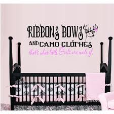 Decal Ribbons Bows And Camo Clothes That S What Little Girls Are Made Of Children Wall Decal Walmart Com Walmart Com