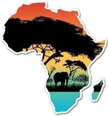 Amazon Com Ak Wall Art Africa Colorful Continent Shape Wild Nature Vinyl Sticker Car Window Bumper Laptop Select Size Home Kitchen