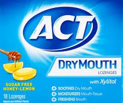 dry mouth honey lemon xylitol lozenges