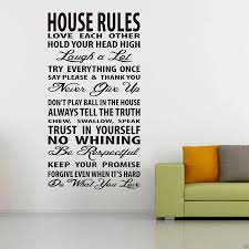 House Rules Wall Decal Quote Lettering Vinyl Window Sticker Diy Home Wall Art For Bedroom Living Room Removable Decor Mural M802 Wall Stickers Aliexpress