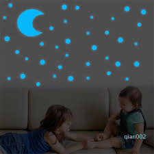 New Wall Stickers For Kids Rooms Glow In Dark Star Wall Stickers Round Dot Star Moon Luminous Kids Room Decor Sticker 15 Baby Wall Decals Baby Wall Sticker From Qian002 22 51 Dhgate Com