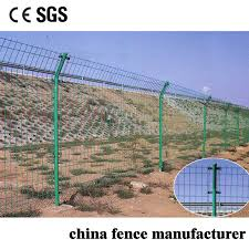 China Anti Climb Pvc Coated Double Wire Welded Wire Green Safety Mesh Fence For Farm China Fencing Pvc Coated