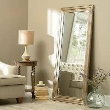 antiqued silver framed mirror 31 5x65