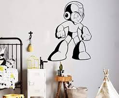 Amazon Com Place Mega Man Wall Decal Video Game Superhero Wall Vinyl Sticker Retro Games Home Interior Kids Children S Room Decor Removable Stickers Made In Usa 22x35 Inch Home Kitchen