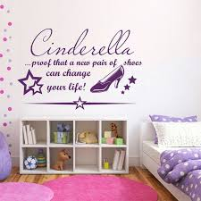 Shop Quote Cinderella Proof That A New Pair Of Shoes Vinyl Sticker Interior Design Nursery Sticker Decal Size 48x57 Color Black Overstock 14776793